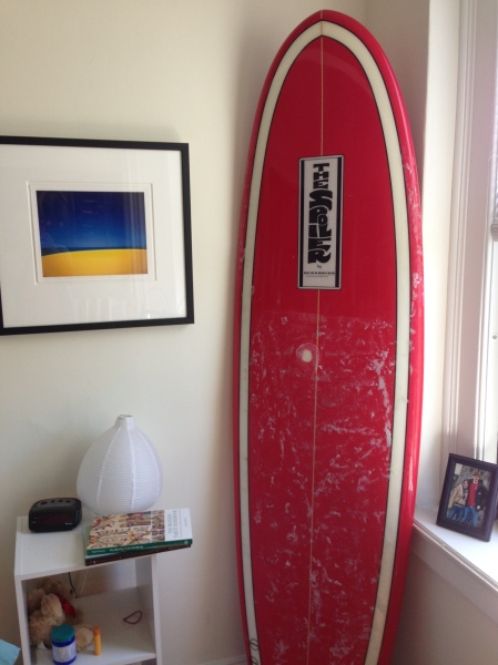 REAL surfboard (not mine)