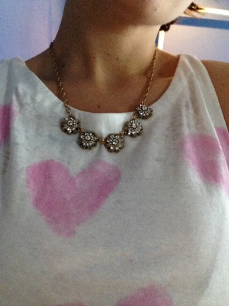 NEVER too old for hearts. NEVER! Tank by Chaser with the Mirabelle Petite Collar from Chloe + Isabel.