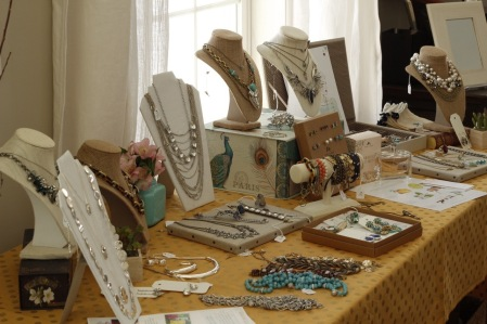 Jewelry on full display. Liz's Bungalow Bash featuring Bungalow Clothing and Chloe + Isabel by Alex.