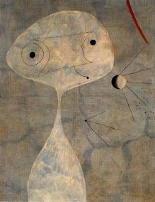 Joan Miro - The Bird and The Moonlight, 1949