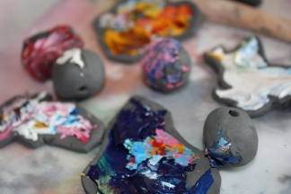 Trash to Treasure: Making Clay Beads from Acrylic Leftovers By Alex Landers outtatheplayhouse.com