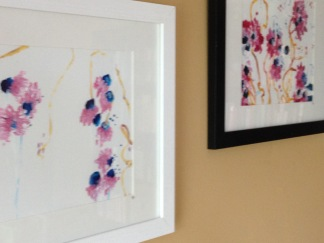 Floral Abstracts Acrylic on Paper by Alex Landers at OuttaThePlayhouse.com